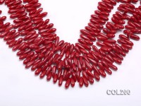 Wholesale 4x15mm Drop-shaped Red Coral Beads Loose String