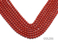 Wholesale 7mm Lantern-shaped Red Coral Beads Loose String