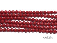 Wholesale 7mm Round Red Coral Beads Loose String