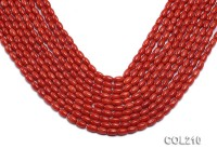 Wholesale 5x7mm Rice-shaped Orange Coral Beads Loose String