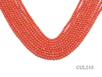 Wholesale 3.5mm Round Orange Coral Beads Loose String
