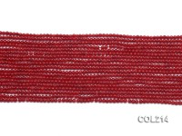 Wholesale 2mm Round Red Coral Beads Loose String