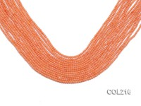 Wholesale 2mm Round Orange Coral Beads Loose String