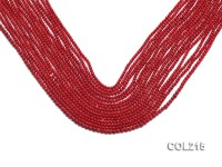 Wholesale 2.5mm Round Red Coral Beads Loose String