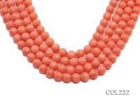 Wholesale 10mm Round Pink Sponge Coral Beads Loose String