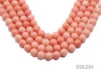 Wholesale 14mm Round Pink Sponge Coral Beads Loose String