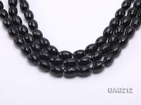 wholesale 10x14mm black oval faceted agate strings