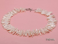 Classic 5x28mm White Freshwater Pearl Sticks Necklace