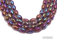 Wholesale 12x20mm Rice-shaped Colorful Faceted Crystal Beads Strings