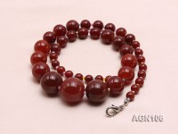 8-18mm red round natural agate necklaces