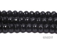 wholesale 12x18mm black faceted wheel-shaped agate strings