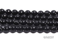 wholesale 16mm round black faceted agate strings
