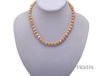 7-8mm light yellow freshwater pearl single strand necklace