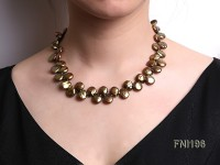 Classic 10-12mm Breen Button Freshwater Pearl Necklace