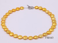 Classic 12-13mm Yellow Button Freshwater Pearl Necklace