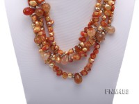 orange tooth-shpaed freshwater pearl necklace