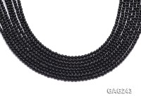 wholesale 3.5mm black round agate strings