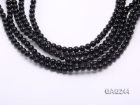 wholesale 6mm round black agate strings