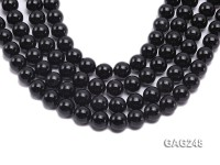 wholesale 14mm round black agate strings