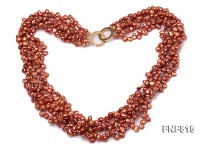Multi-strand 5-6mm Coffee Keshi Pearl Necklace