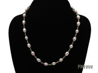 White Freshwater Pearl and Green Crystal Beads Necklace, Bracelet and Earrings Set