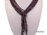 3-4mm mauve flat freshwater pearl necklace
