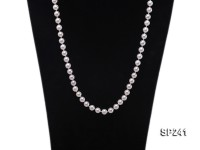 8mm greyish white round south seashell pearl necklace