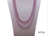 10mm lavender round seashell pearl necklace