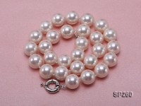 14mm white seashell pearl necklace