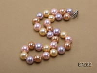 14mm round multicolor seashell pearl necklace