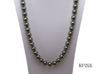 14mm dark green round seashell pearl necklace