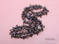 2 strand 7-8mm grey freshwater pearl and smoky quartz necklace