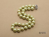 12mm round green seashell pearl necklace