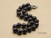Natural 14.5mm Round Garnet Necklace