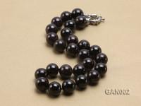 Natural 14.5mm Round Garnet Necklace
