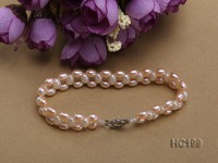 4.5x6mm pink and white freshwater pearl bracelet