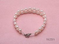 4.5x6mm white oval freshwater pearl bracelet
