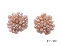 10mm Lavender Rice-shaped Cultured Freshwater Pearl Clip-on Earrings