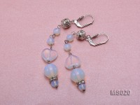 Round Moonstone Beads and Heart-shaped Moonstone Necklace