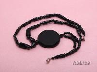 4-40mm black several shape agate necklace
