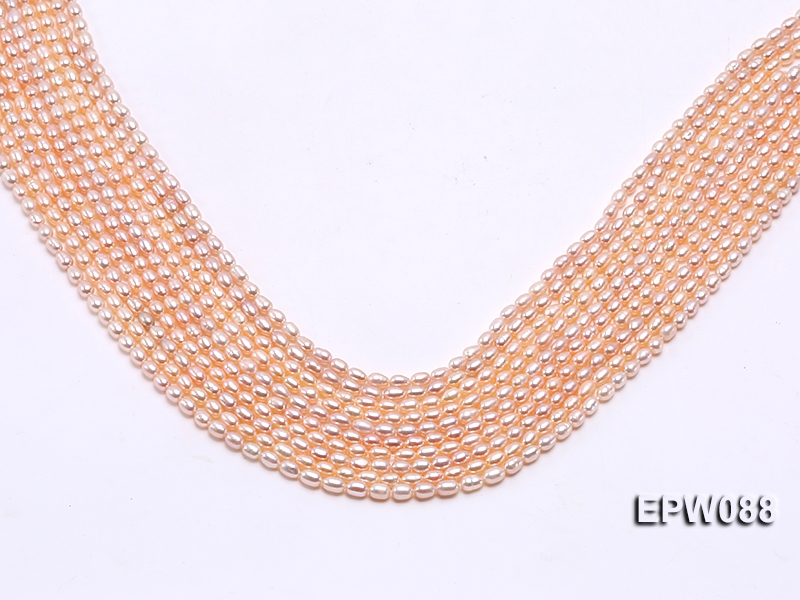 Wholesale 3.5x5mm  Rice-shaped Freshwater Pearl String