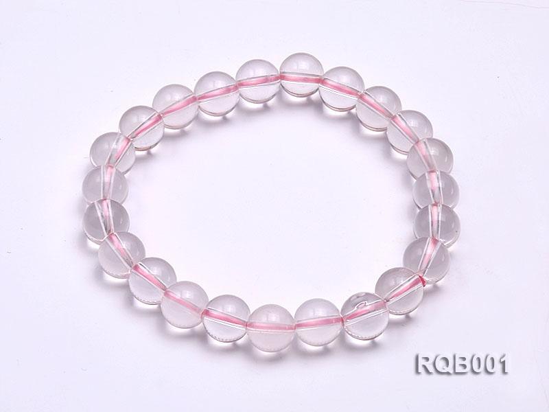 9mm Round Rose Quartz Beads Bracelet