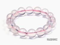 12mm Round Rose Quartz Beads Bracelet