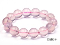 14-15mm Round Rose Quartz Beads Bracelet
