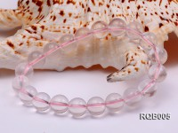 10mm Round Rose Quartz Beads Bracelet