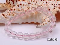 10mm Round Rose Quartz Beads Bracelet