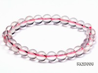 8mm Round Rose Quartz Beads Bracelet