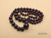 5.4mm and 8.2mm Dark Red Garnet Necklace