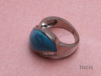 14x25mm blue irregular turquoise ring  with sterling silver