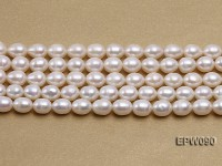 Wholesale AAA-grade 8.5X10.5mm Classic White Rice-shaped Freshwater Pearl String